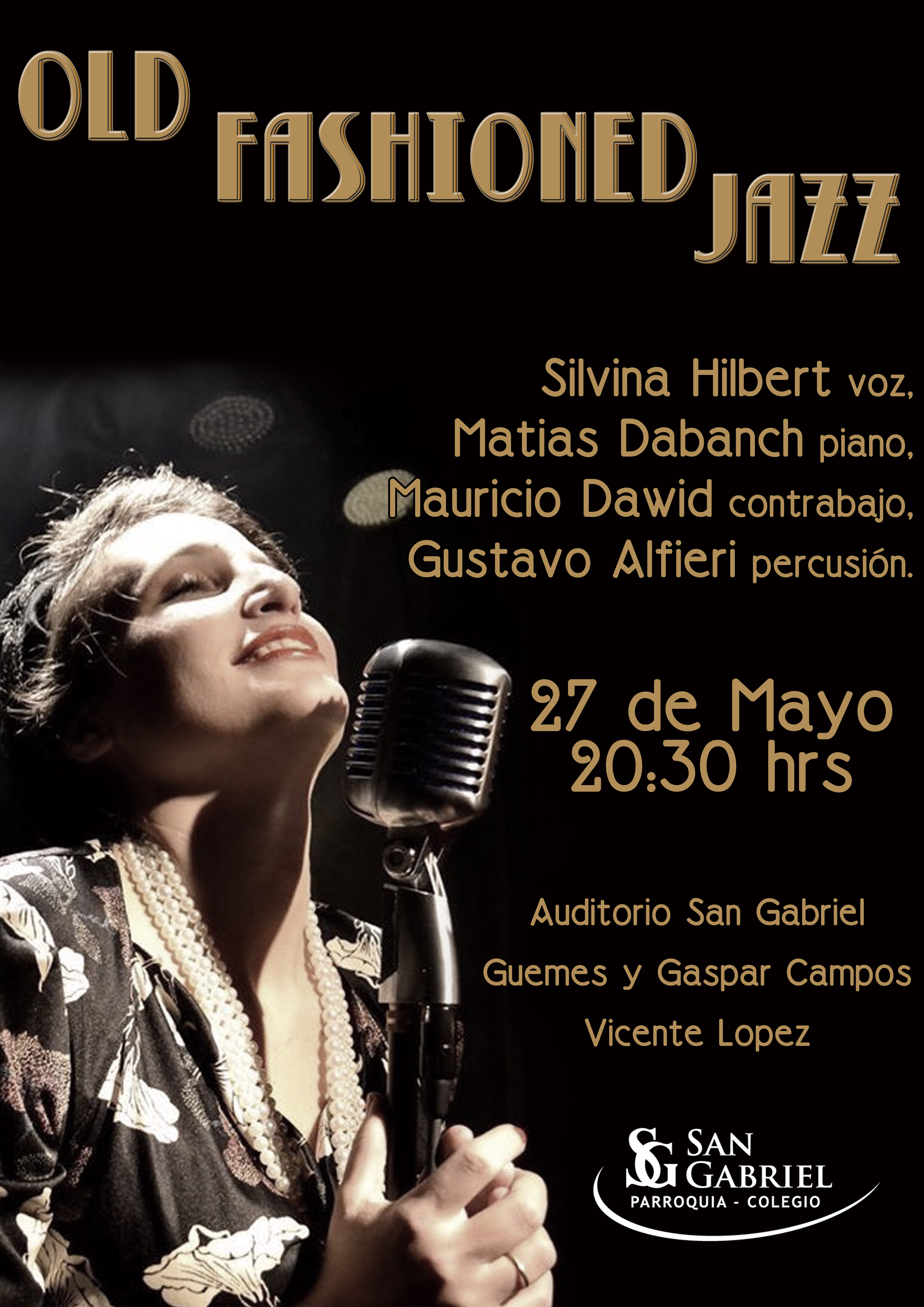 Old Fashioned Jazz, sábado 27 de mayo, 20,30hs